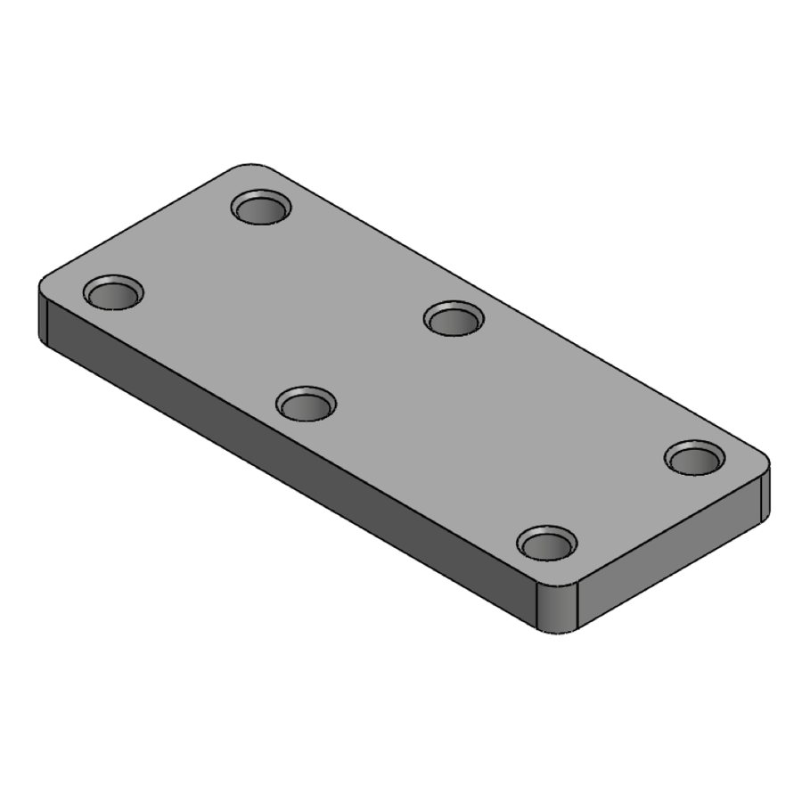 H-Series Corner Brace Connection Bottom Plate | 00227 | Fabric Structure Systems