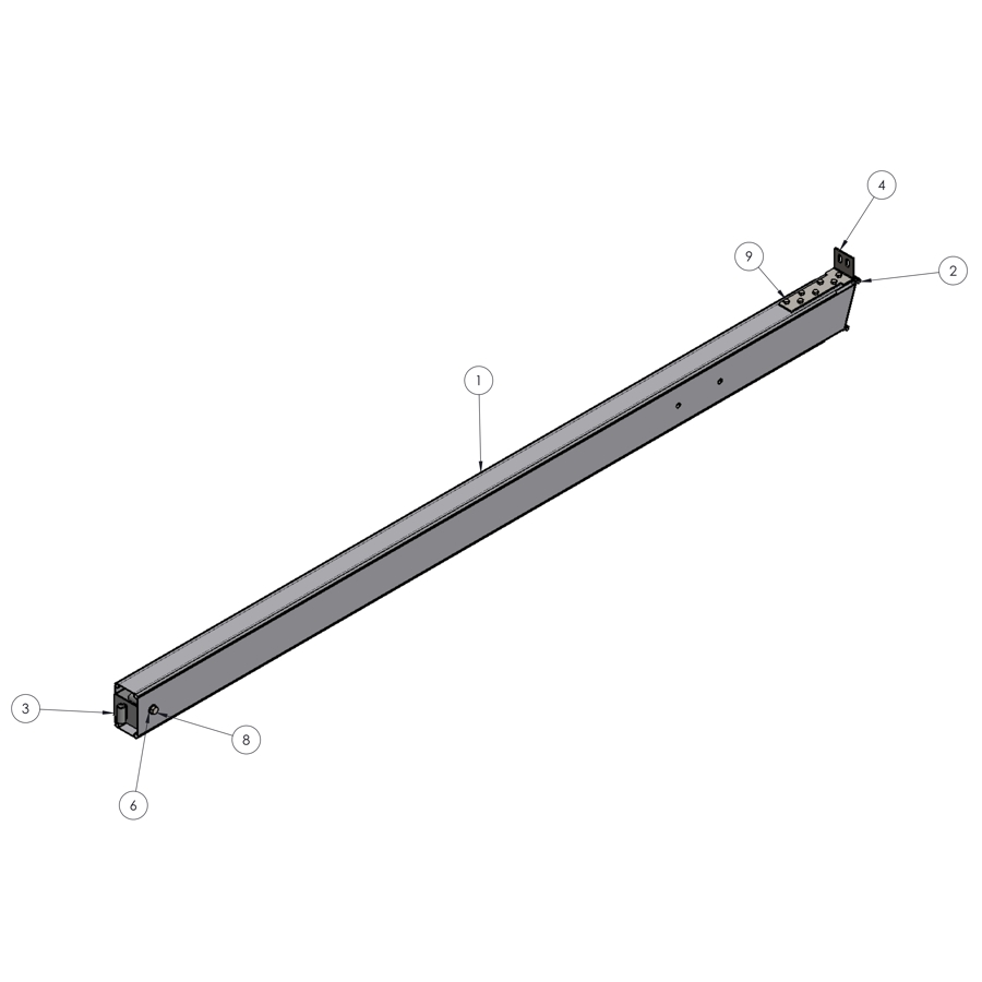 H-Series STRFH 13FT-4M Leg Without Brace Bar Connection | 01196 | Fabric Structure Systems