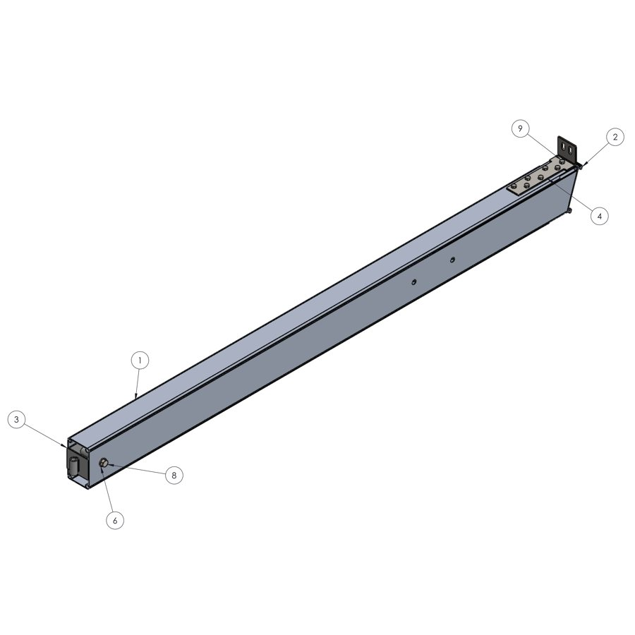 H-Series STRFH 202 Upright, 3M Leg Without Brace Connection | 00250 | Fabric Structure Systems