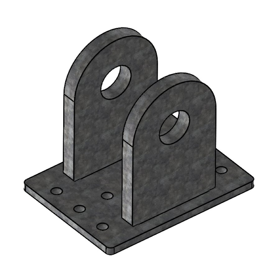 H-Series Gable Upright Connector for Ridge | 00260 | Fabric Structure Systems