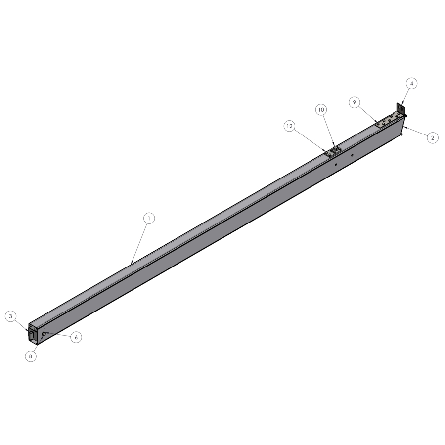 H-Series STRFH 5M Leg | 00356 | Fabric Structure Systems
