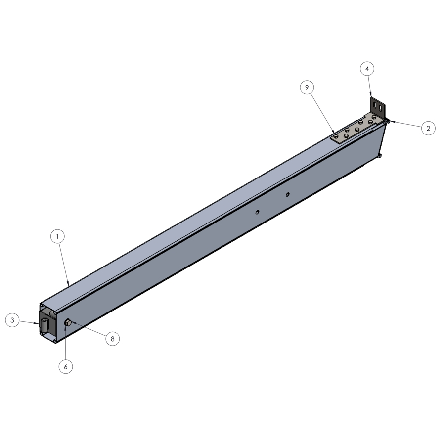H-Series STRFH 2.4M Upright No Brace Bar Connector | 00357 | Fabric Structure Systems