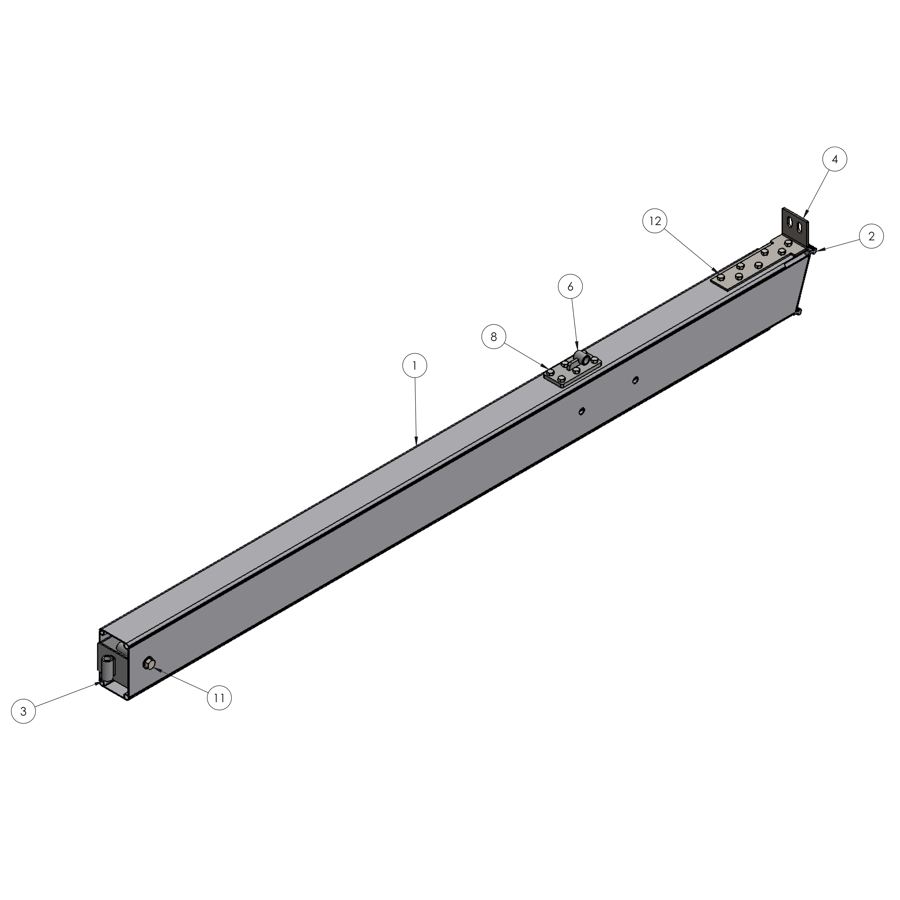H-Series STRFH 202 Upright, 3M Leg | 00358 | Fabric Structure Systems
