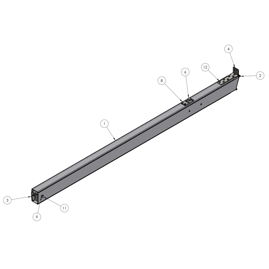 H-Series STRFH 13FT-4M Leg With Brace Bar Connection | 01195 | Fabric Structure Systems