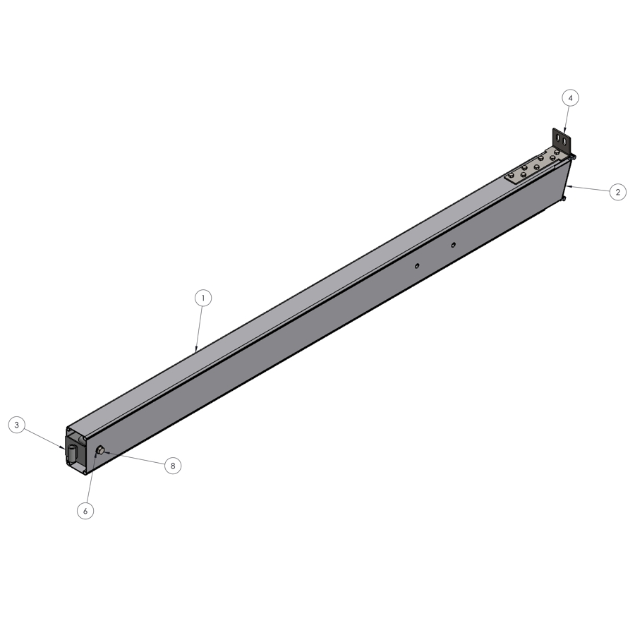 H-Series STRFH 10FT 202 Upright Leg without Brace Connection | 01821 | Fabric Structure Systems