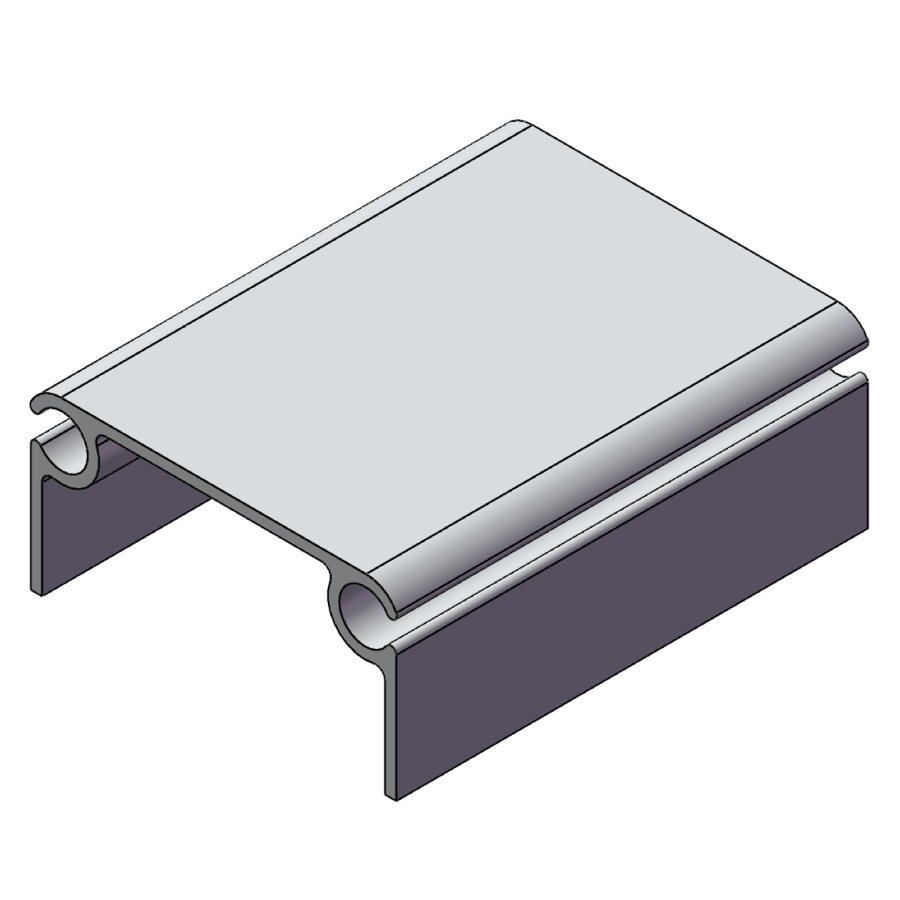 H-Series Ridge Insert Aluminum Top Section | 03211 | Fabric Structure Systems