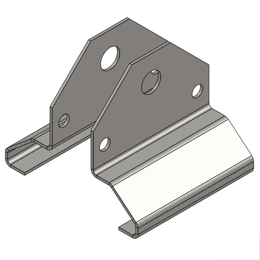 H-Series Mahaffey 380 Beam Clamp, Set | 03244 | Fabric Structure Systems