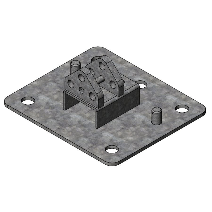 L-Series L200 Series Standard Base Plate   04500   Fabric Structure Systems